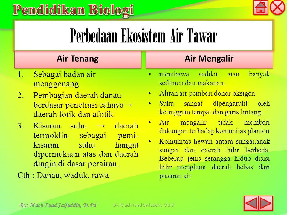 Perbedaan Ekosistem Air Tawar