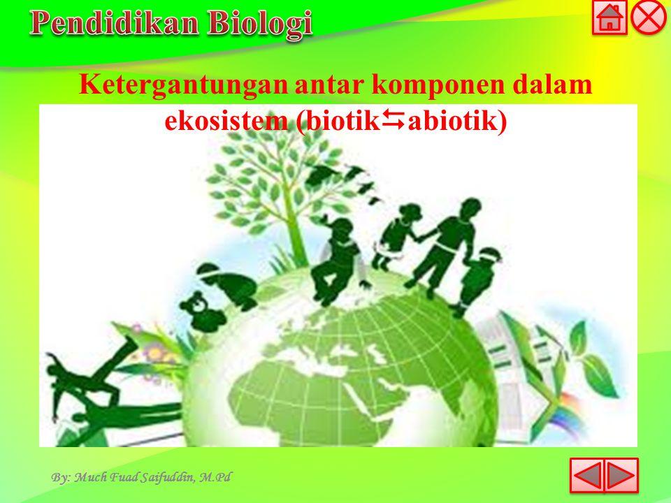 Ketergantungan antar komponen dalam ekosistem (biotikabiotik)