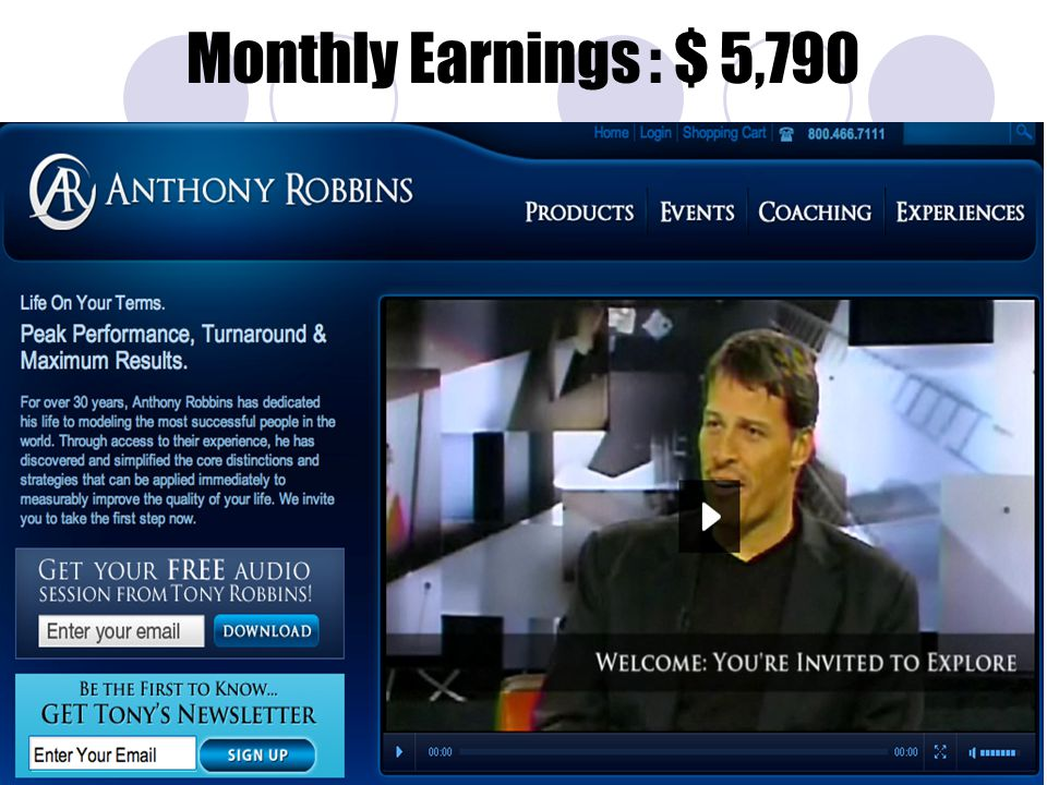 Monthly Earnings : $ 5,790
