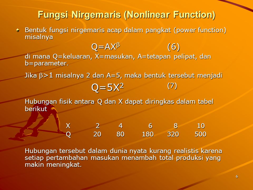 Fungsi Nirgemaris (Nonlinear Function)