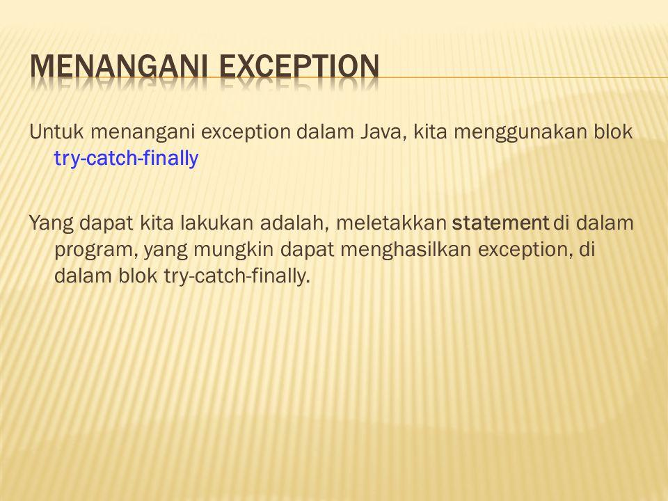 Menangani exception