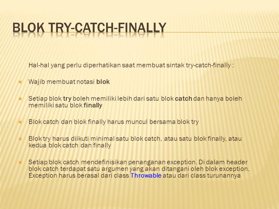 Blok try-catch-finally