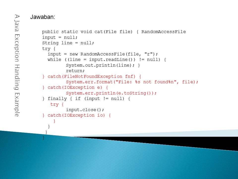 A Java Exception Handling Example