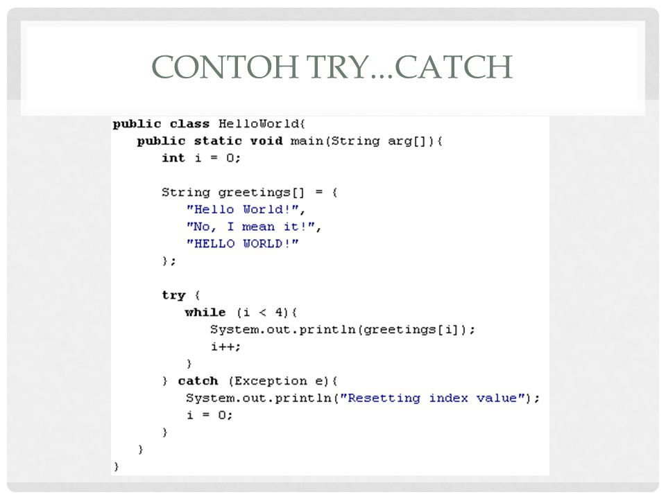 Contoh try...catch