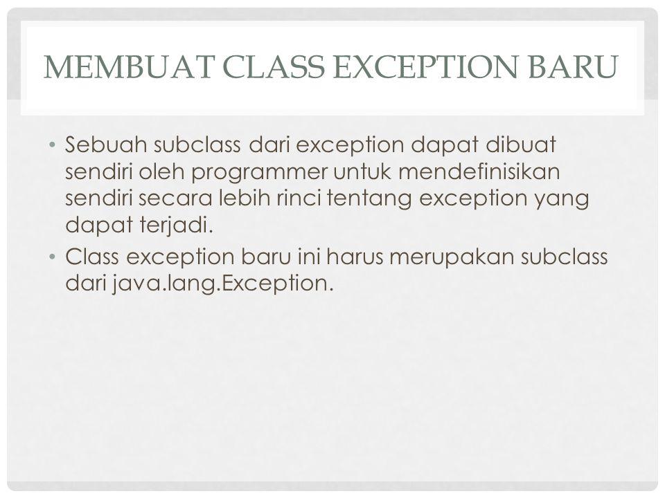 Membuat class exception baru