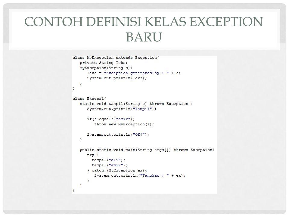 Contoh definisi kelas Exception baru