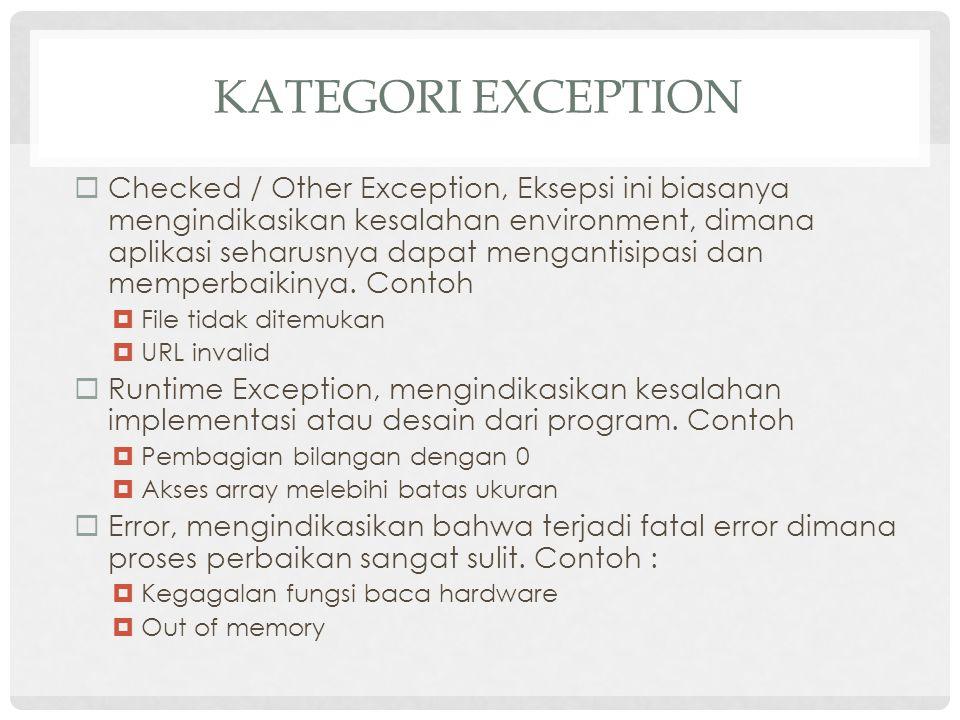 Kategori Exception