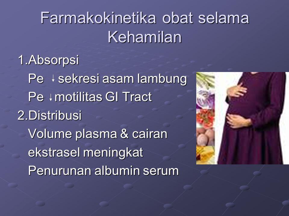 Farmakokinetika obat selama Kehamilan
