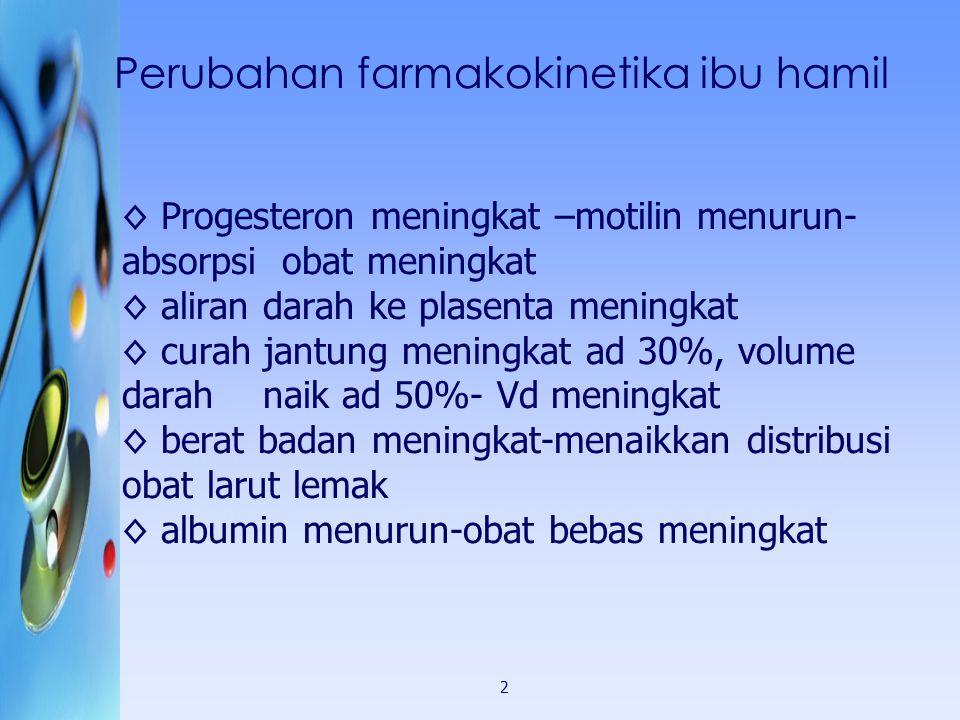 Presentation Information Perubahan farmakokinetika ibu hamil