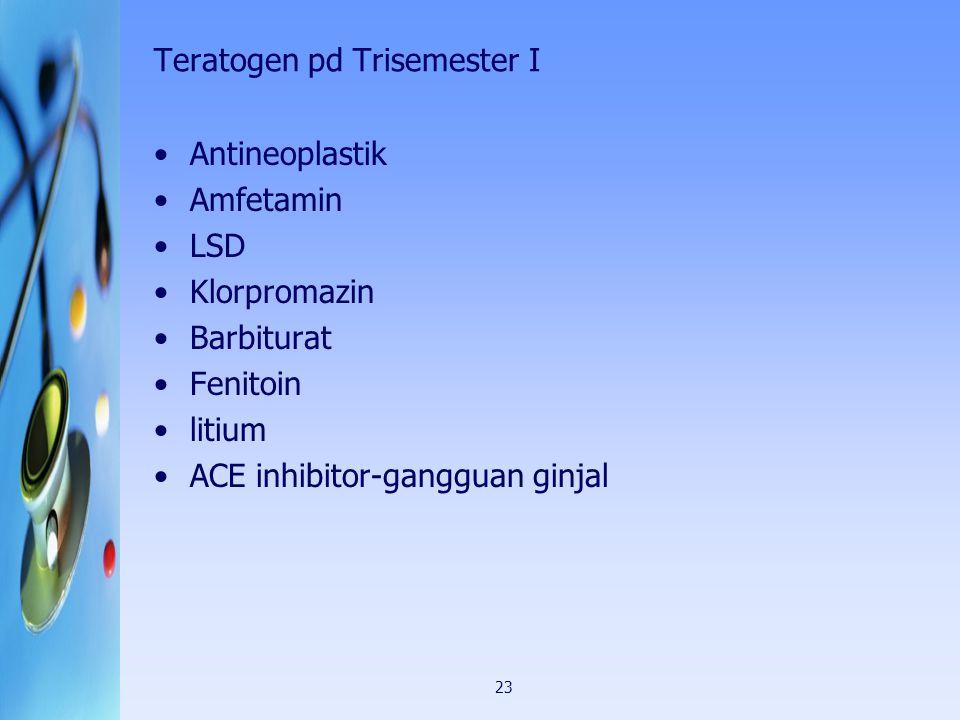 Teratogen pd Trisemester I