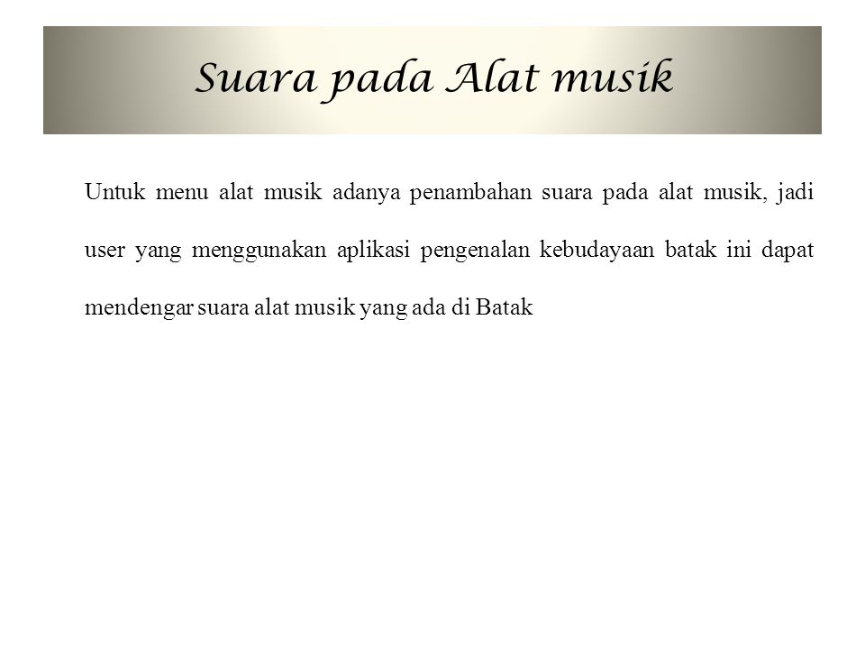 Suara pada Alat musik