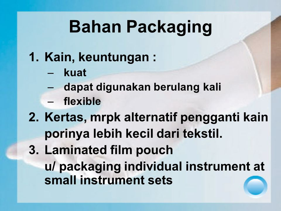 Bahan Packaging Kain, keuntungan :