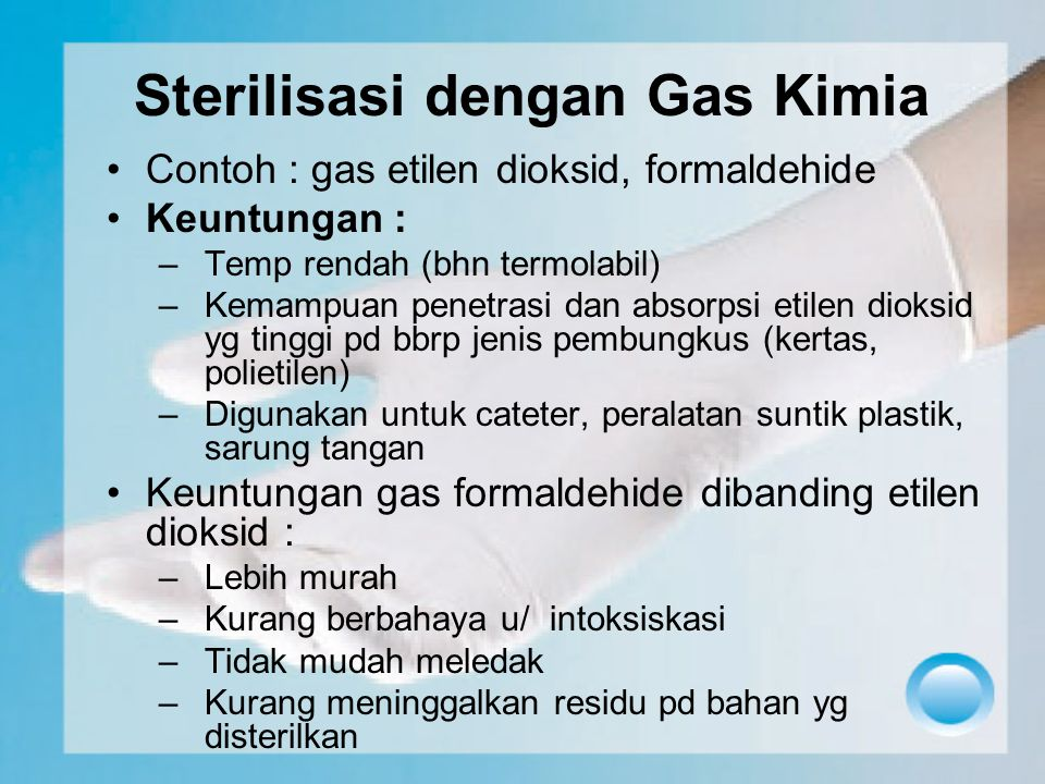 Sterilisasi dengan Gas Kimia