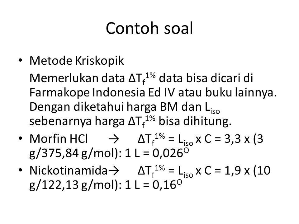 Contoh soal Metode Kriskopik