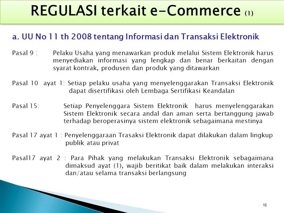 REGULASI terkait e-Commerce (1)