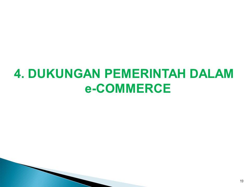 4. DUKUNGAN PEMERINTAH DALAM e-COMMERCE