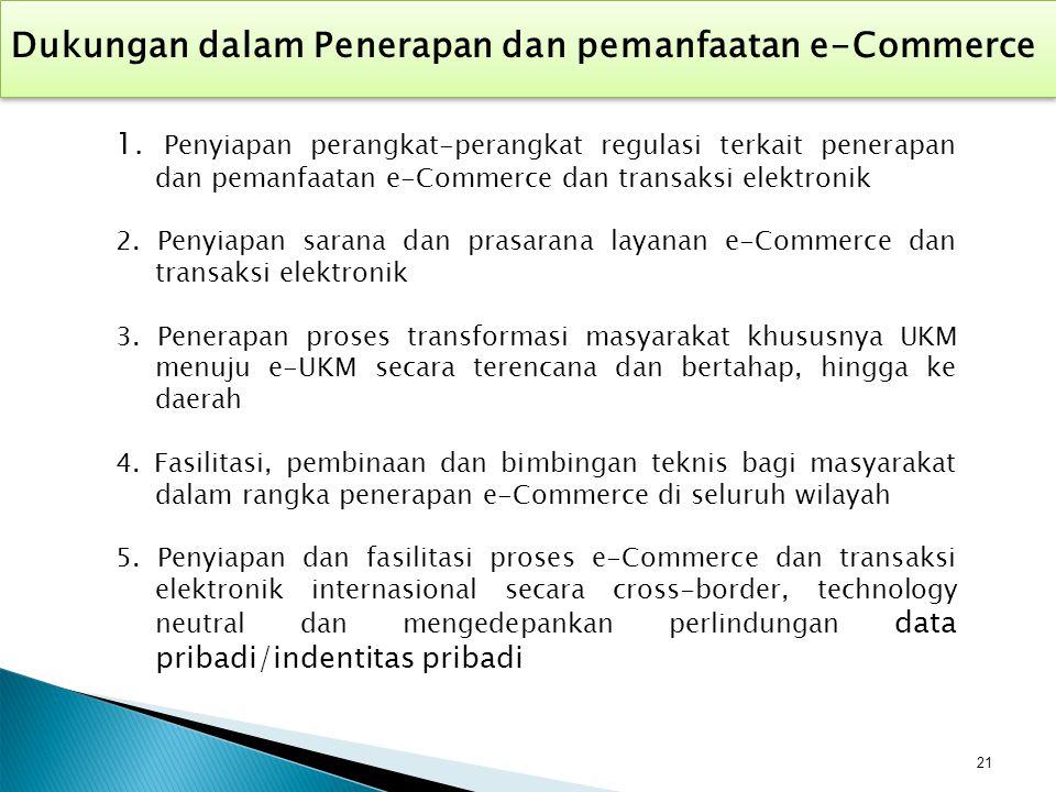 Dukungan dalam Penerapan dan pemanfaatan e-Commerce