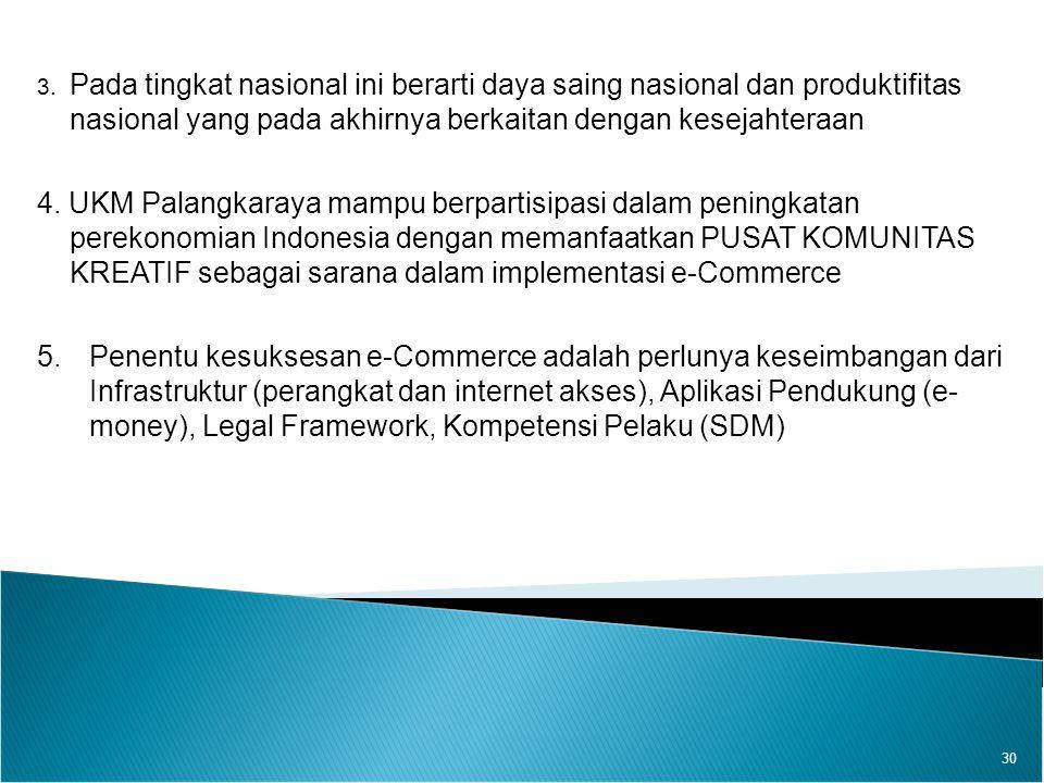 3. Pada tingkat nasional ini berarti daya saing nasional dan produktifitas nasional yang pada akhirnya berkaitan dengan kesejahteraan