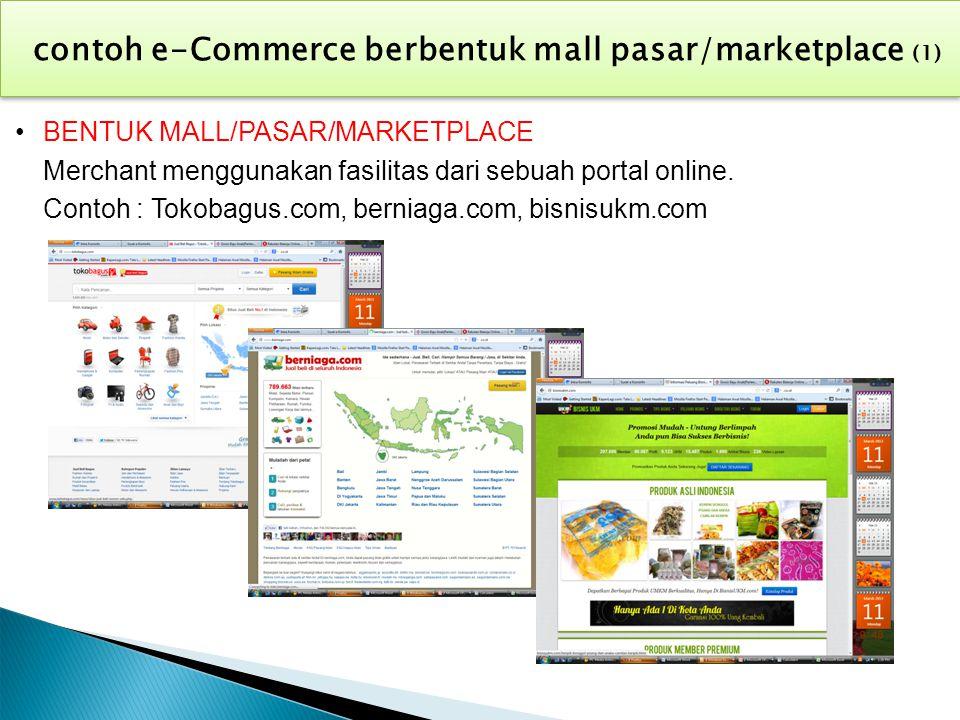 contoh e-Commerce berbentuk mall pasar/marketplace (1)