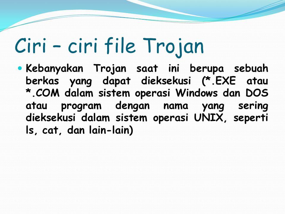 Ciri – ciri file Trojan