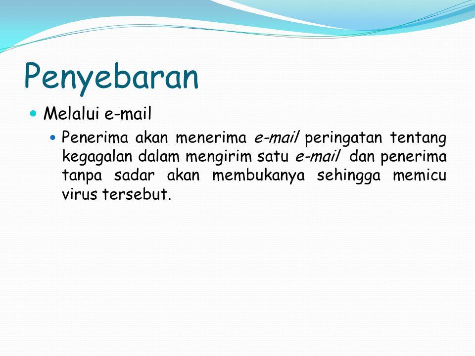 Penyebaran Melalui e-mail