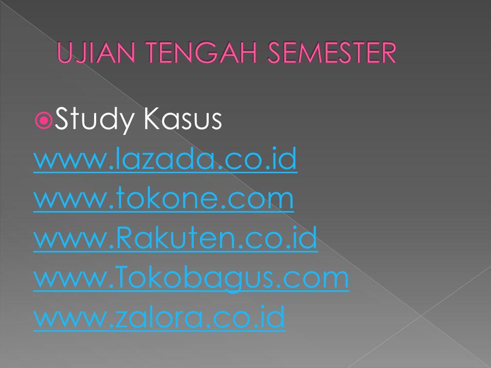 Study Kasus www.lazada.co.id www.tokone.com www.Rakuten.co.id