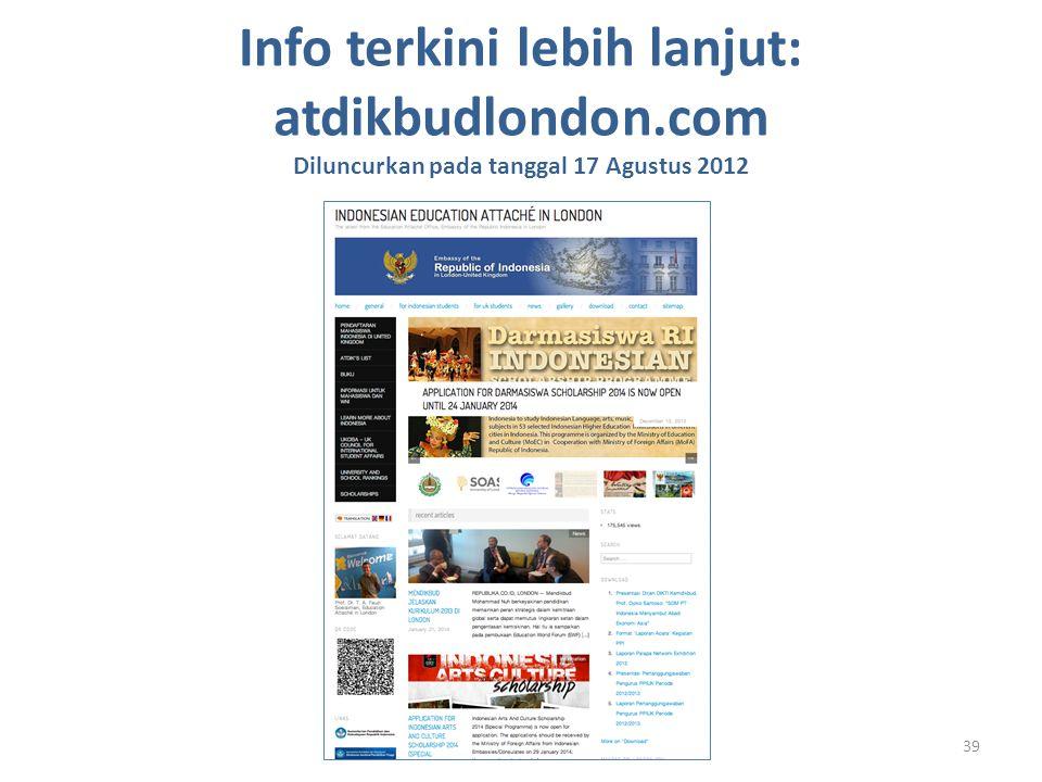 Info terkini lebih lanjut: atdikbudlondon