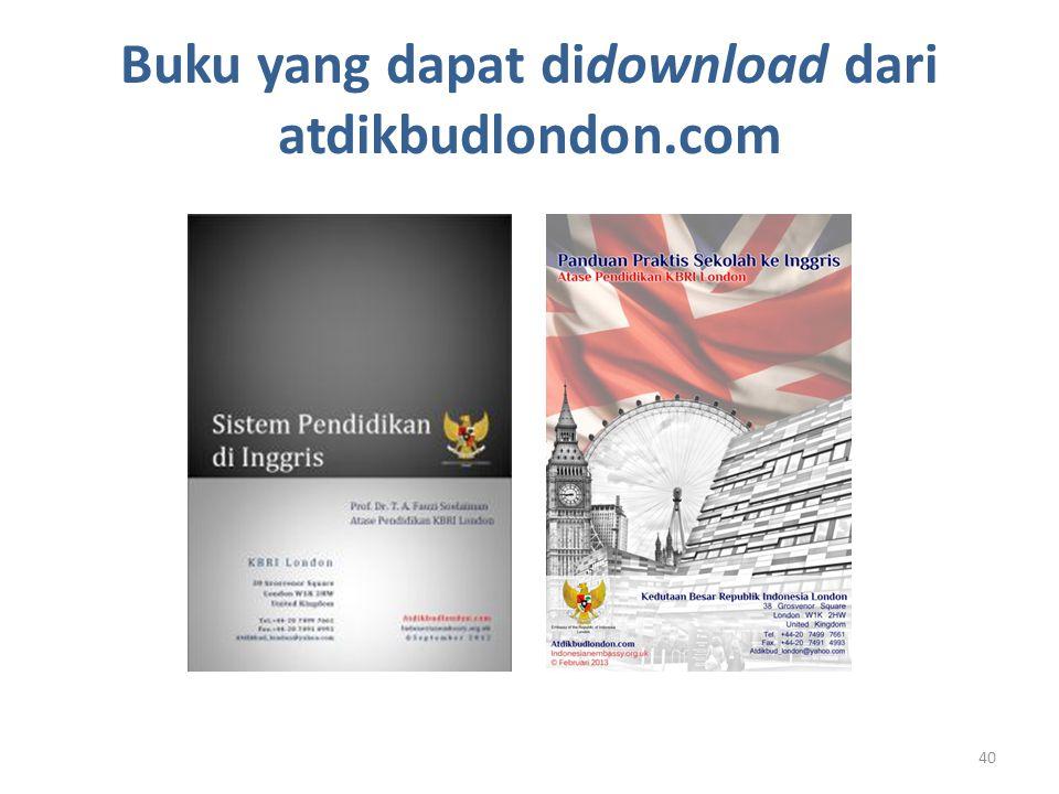 Buku yang dapat didownload dari atdikbudlondon.com