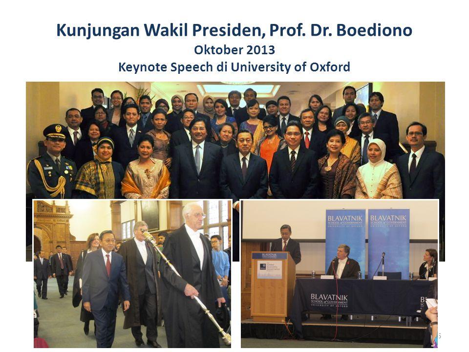 Kunjungan Wakil Presiden, Prof. Dr
