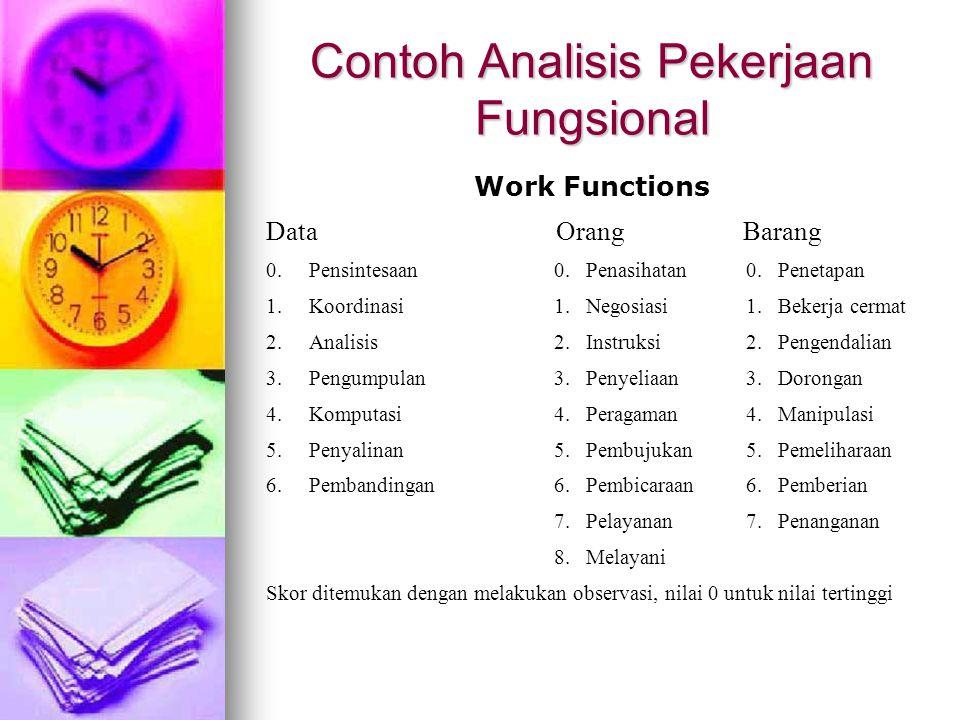 Contoh Analisis Pekerjaan Fungsional
