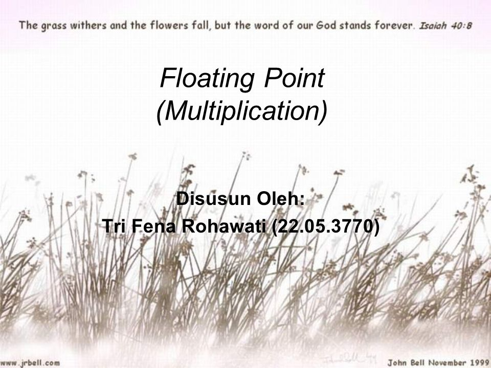 Floating Point (Multiplication)