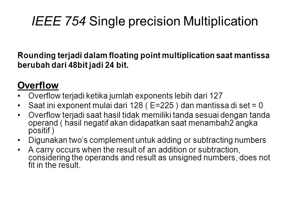 IEEE 754 Single precision Multiplication