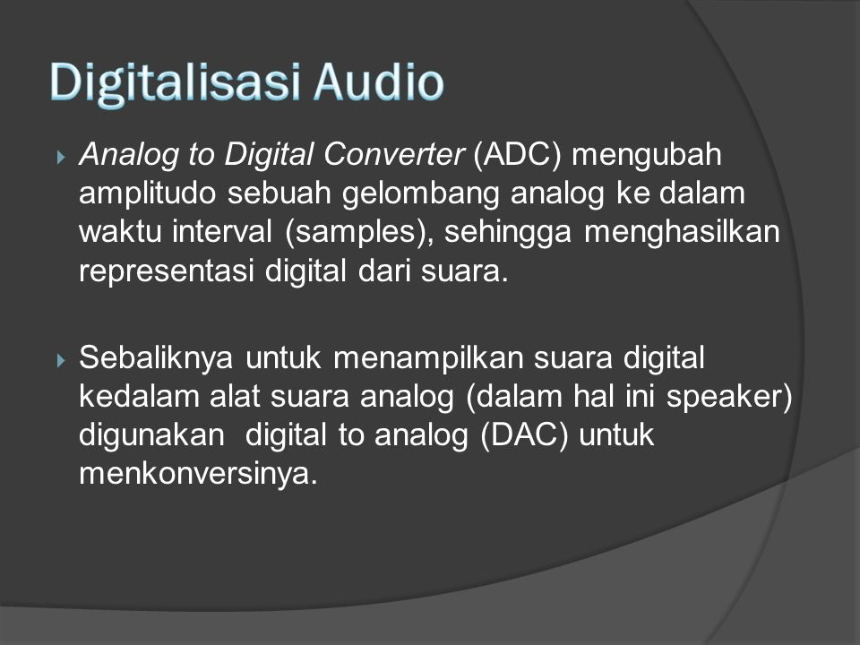 Digitalisasi Audio