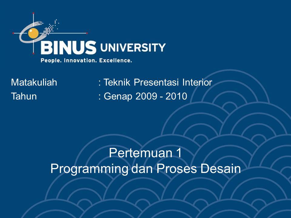 Pertemuan 1 Programming dan Proses Desain