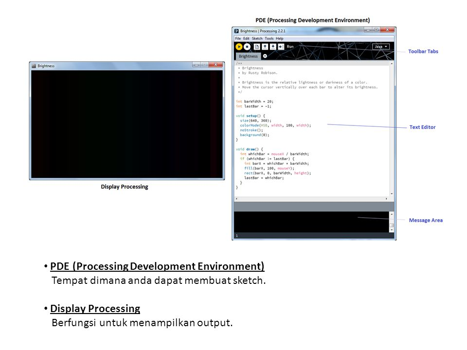PDE (Processing Development Environment)