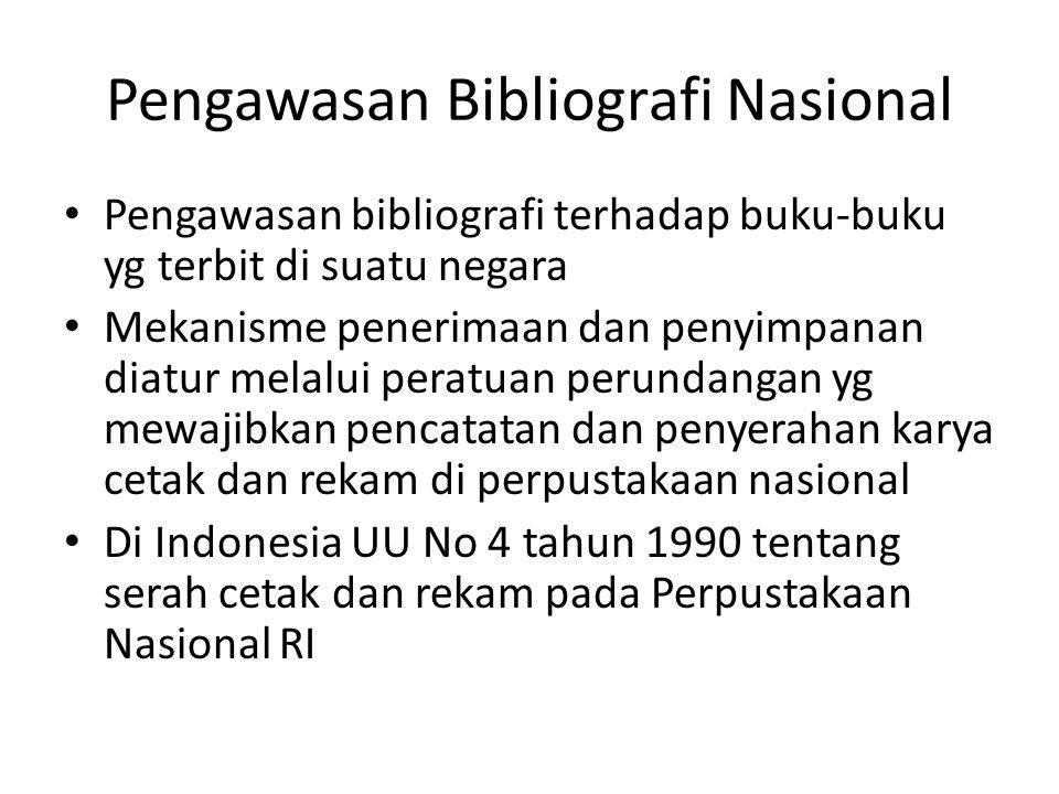 Pengawasan Bibliografi Nasional