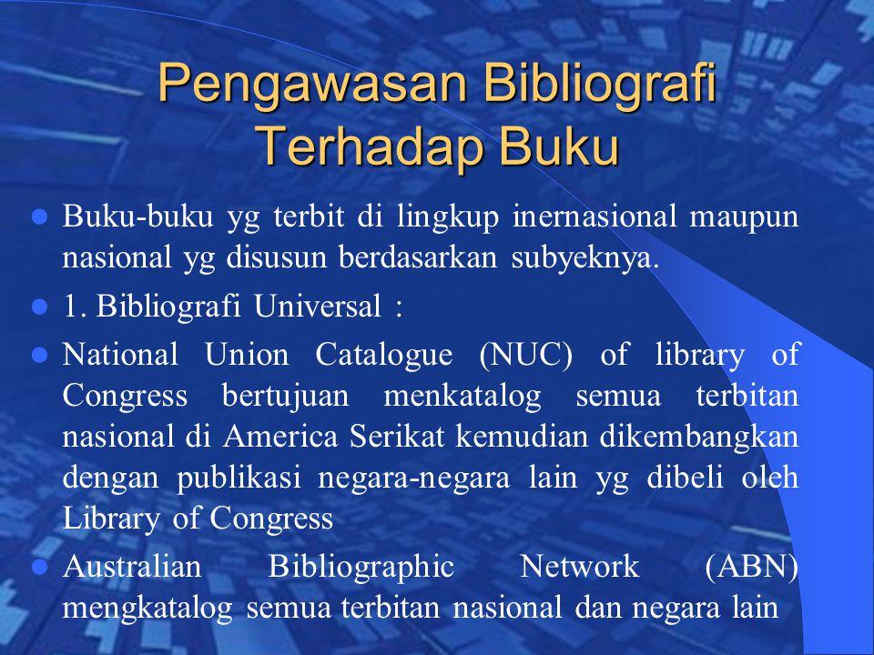 Pengawasan Bibliografi Terhadap Buku