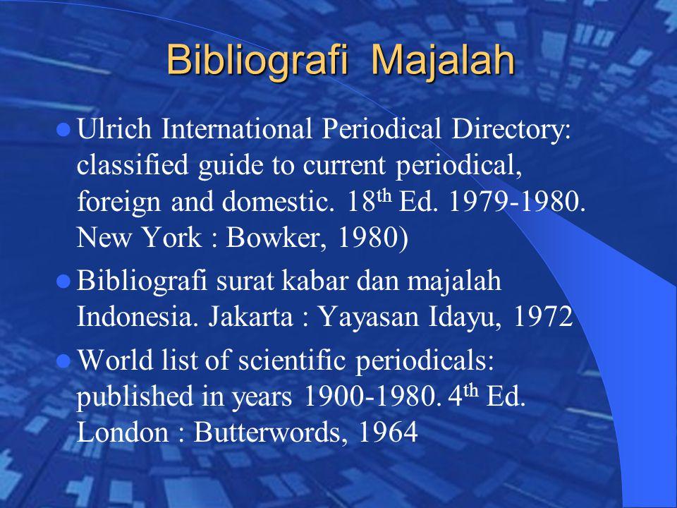 Bibliografi Majalah