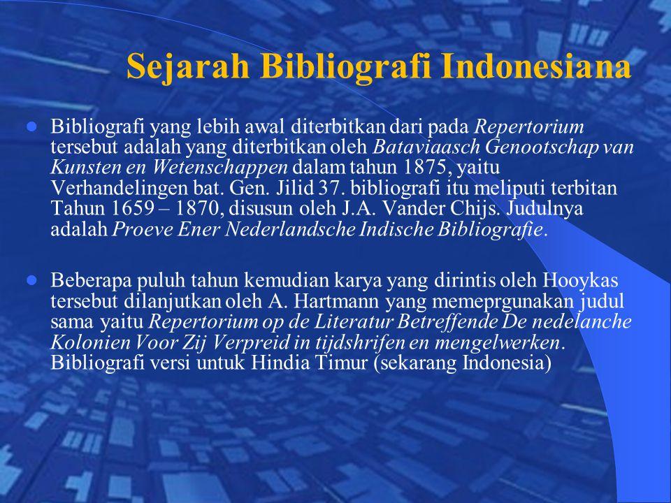 Sejarah Bibliografi Indonesiana