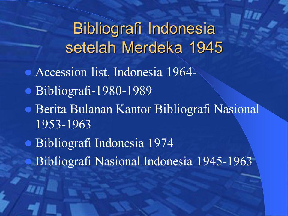 Bibliografi Indonesia setelah Merdeka 1945