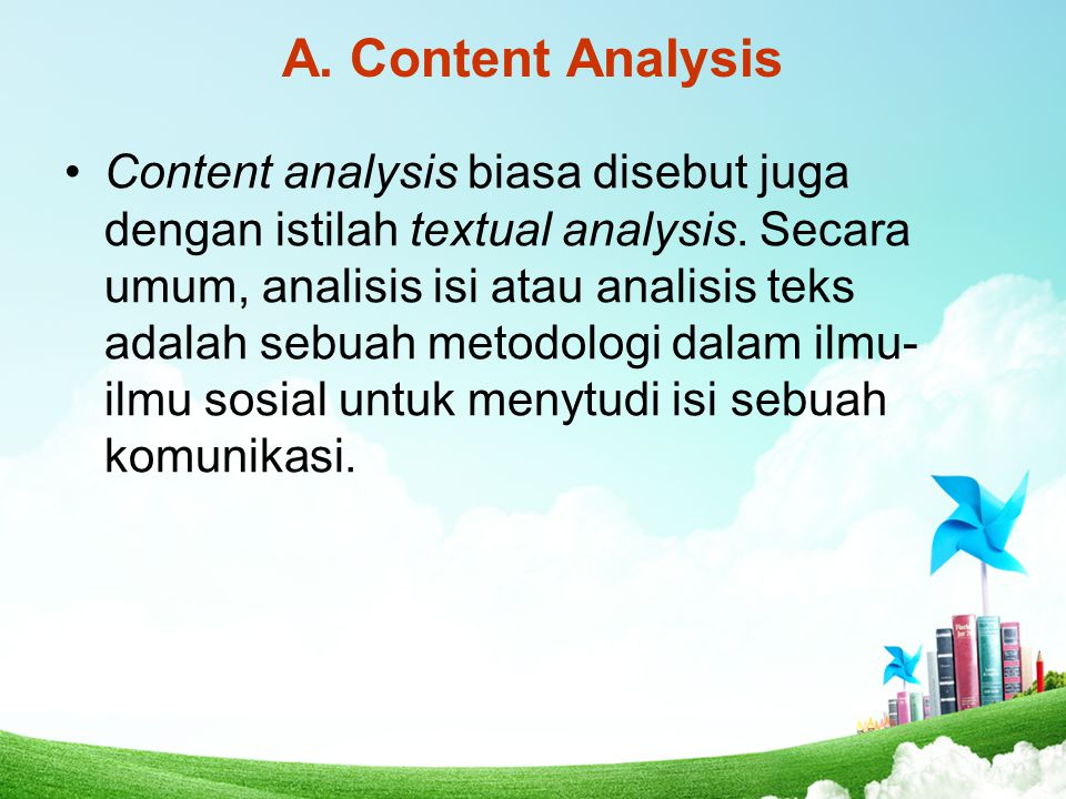A. Content Analysis