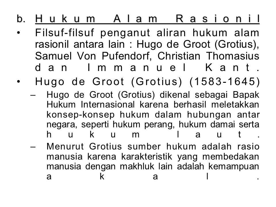 Hugo de Groot (Grotius) (1583-1645)