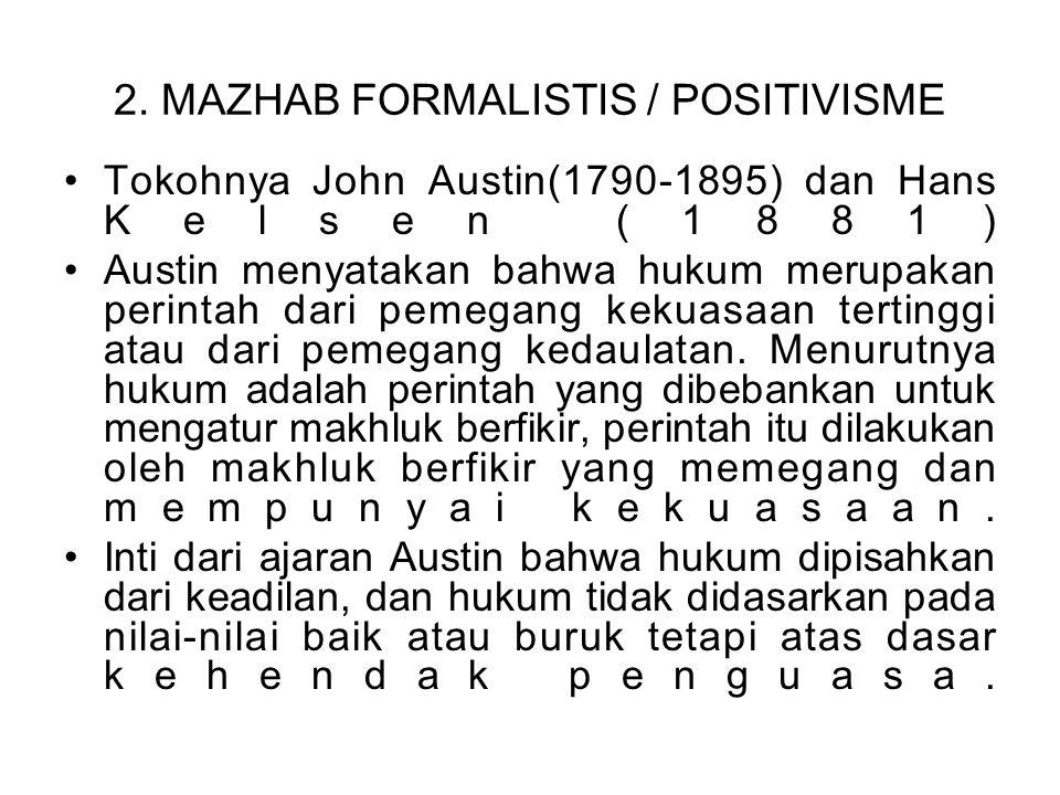 2. MAZHAB FORMALISTIS / POSITIVISME