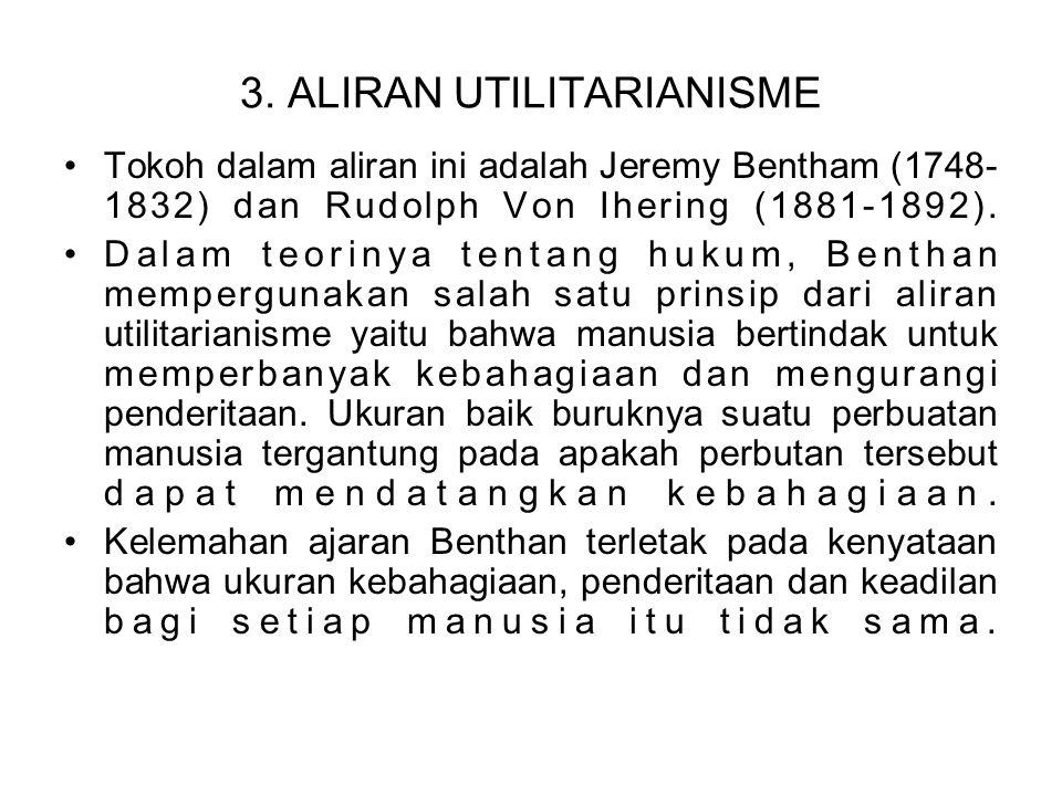 3. ALIRAN UTILITARIANISME