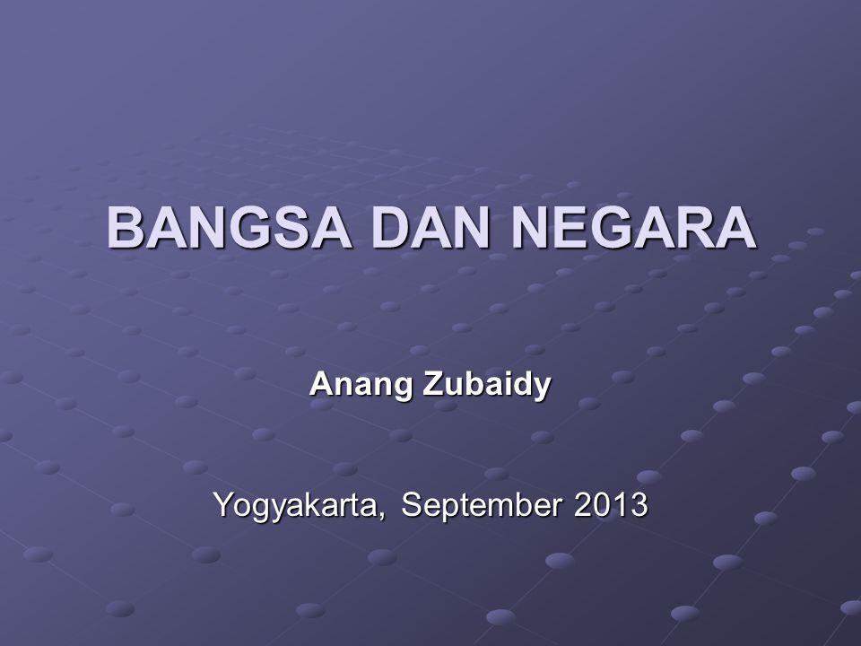 Anang Zubaidy Yogyakarta, September 2013