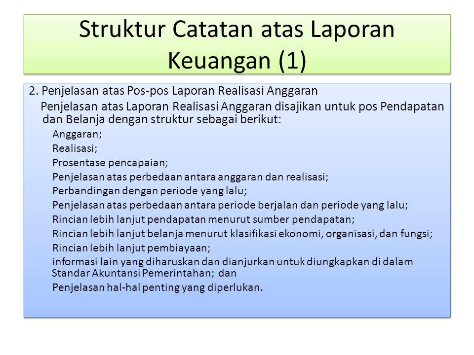 Struktur Catatan atas Laporan Keuangan (1)