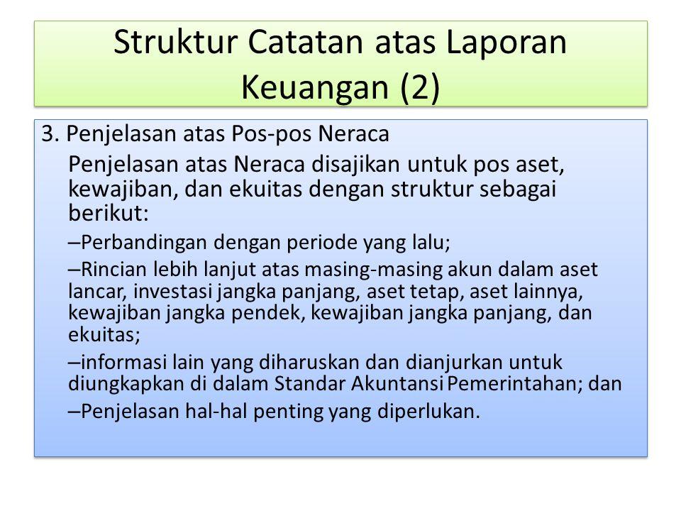Struktur Catatan atas Laporan Keuangan (2)