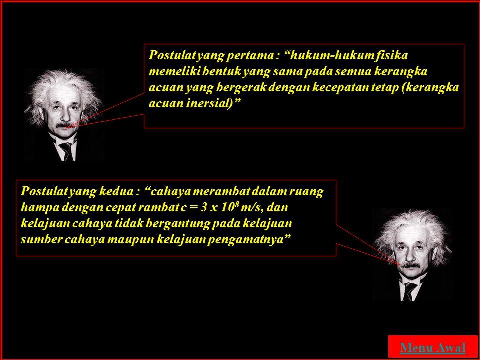 Postulat Relativitas Einstein