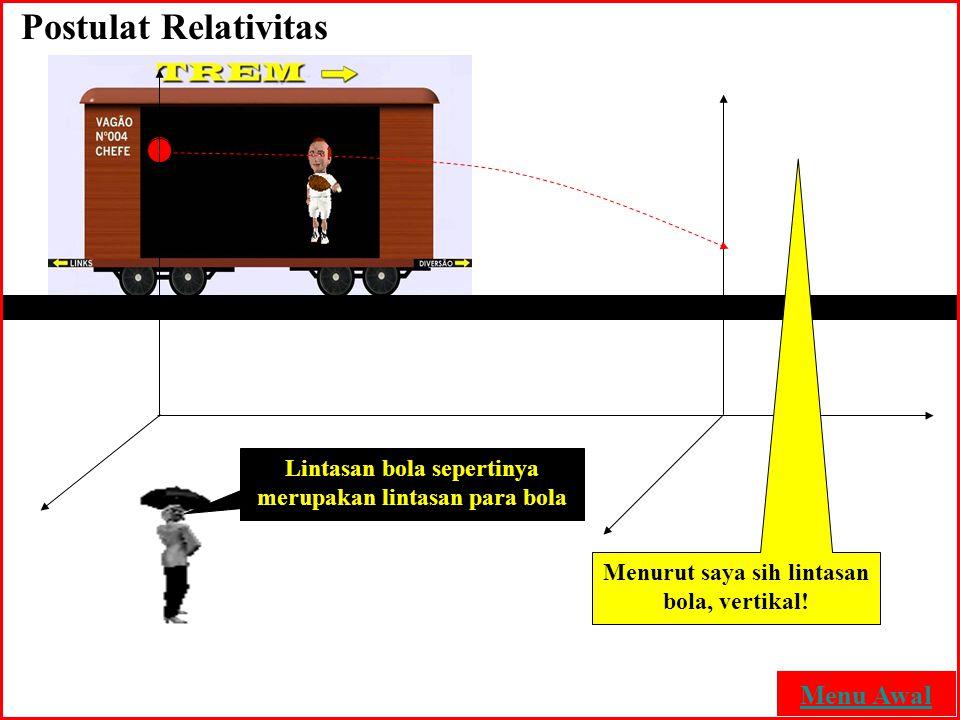Postulat Relativitas Menu Awal