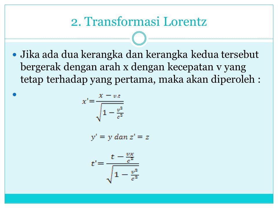 2. Transformasi Lorentz